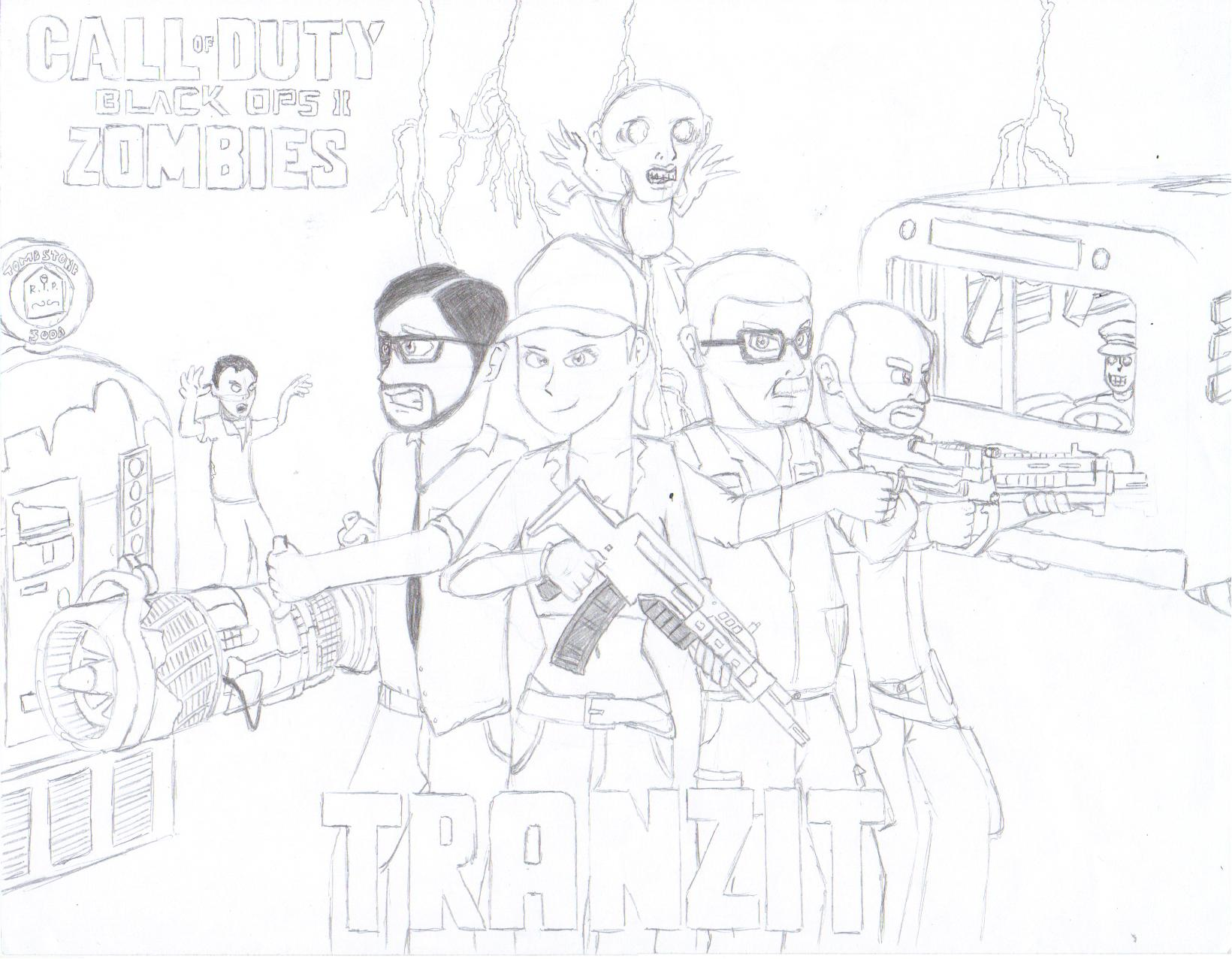 1640x1276 Cod Black Ops 2 Zombies Coloring Pages Black Ops Zombies Coloring