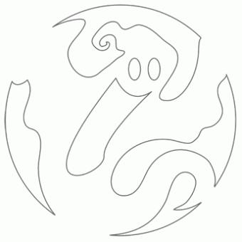 340x340 Drawn Ghost Stencil