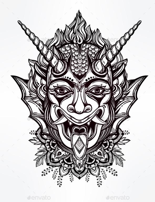 590x767 Drawn Head Demon