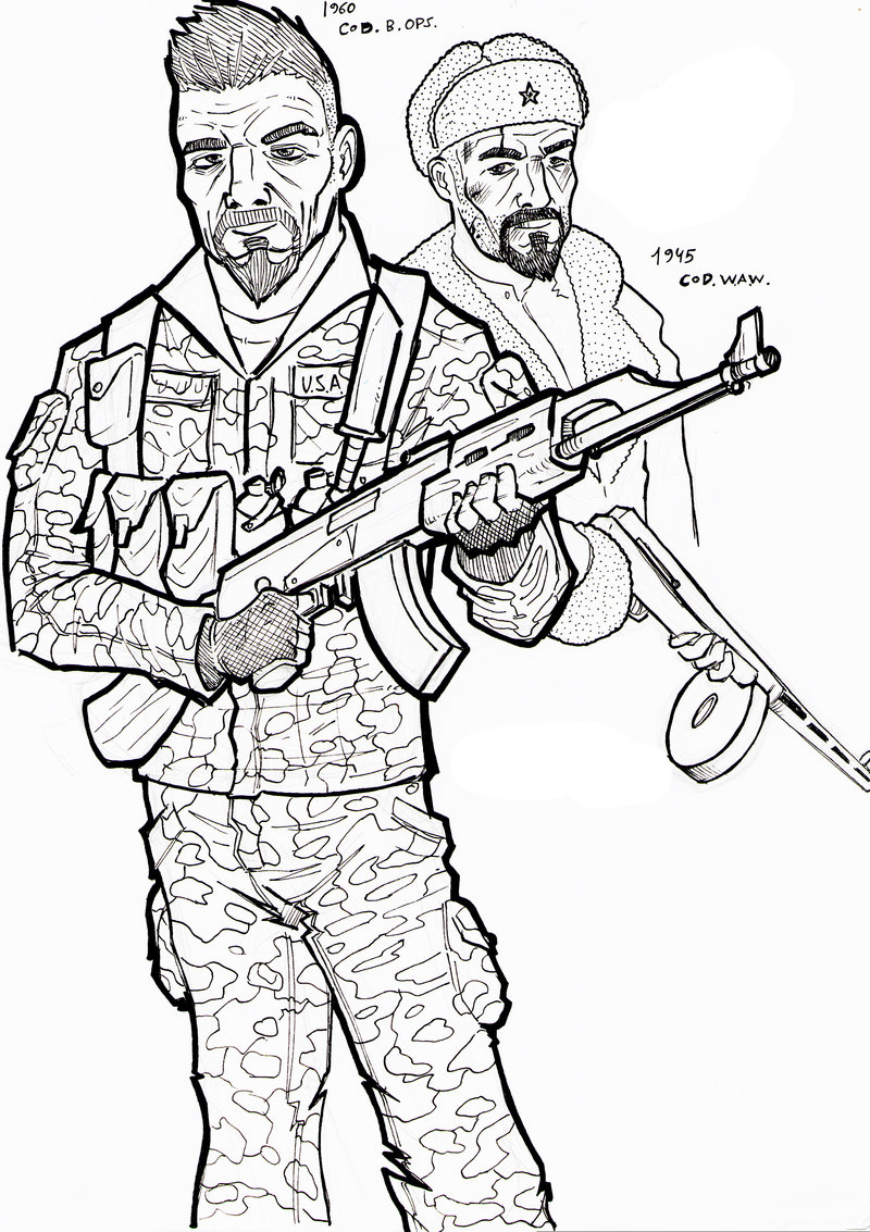 800x1133 Call Of Duty Coloring Pages