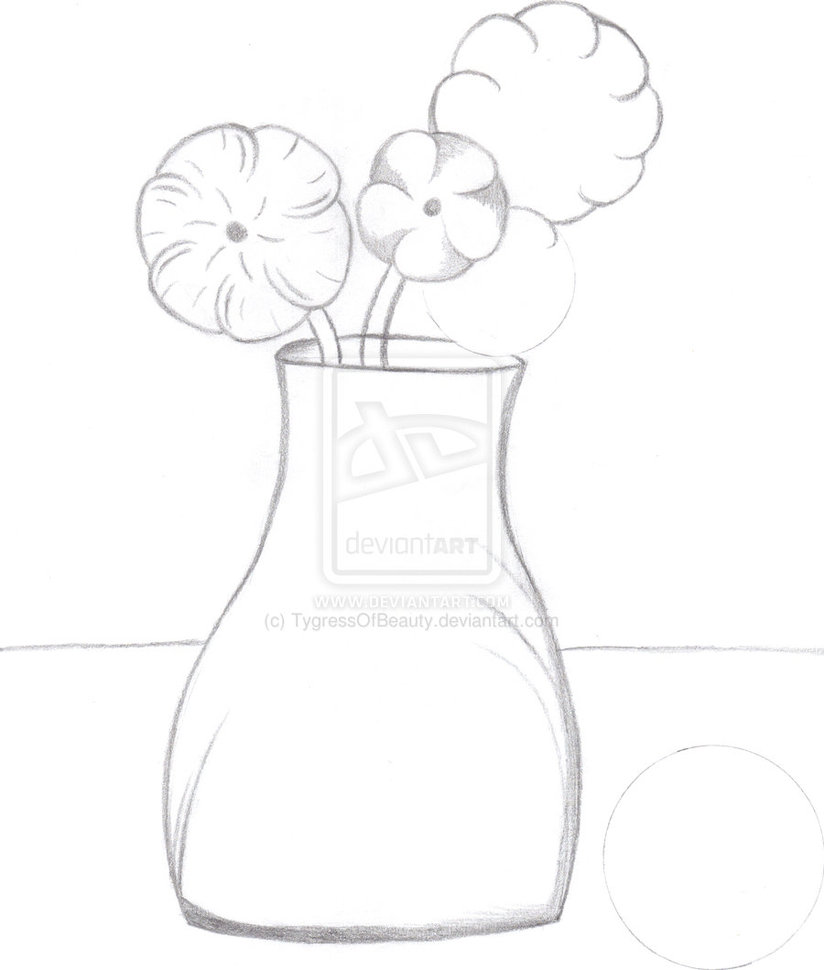 824x970 Easy Drawings Of Flowers In A Vase Step By Step Gallery. How