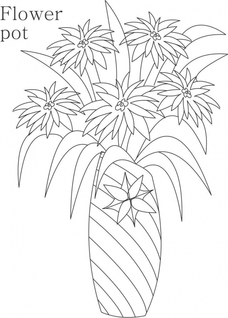 736x1024 Cute Flower Pot Pencil Drawings For Children Images About