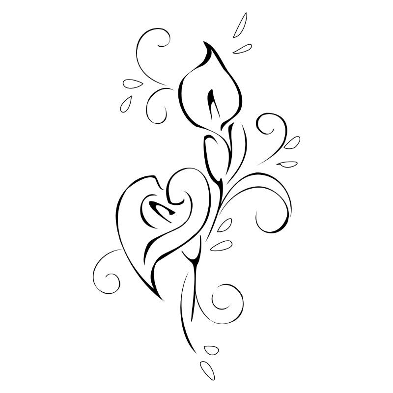 800x800 Simple Calla Lily Design Tattoo Art Calla Lilies
