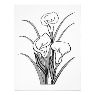 324x324 Calla Lily Flower Letterhead Zazzle