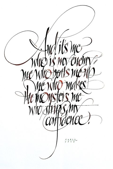 480x720 John Stevens ~ And It's Me Calligrahphy
