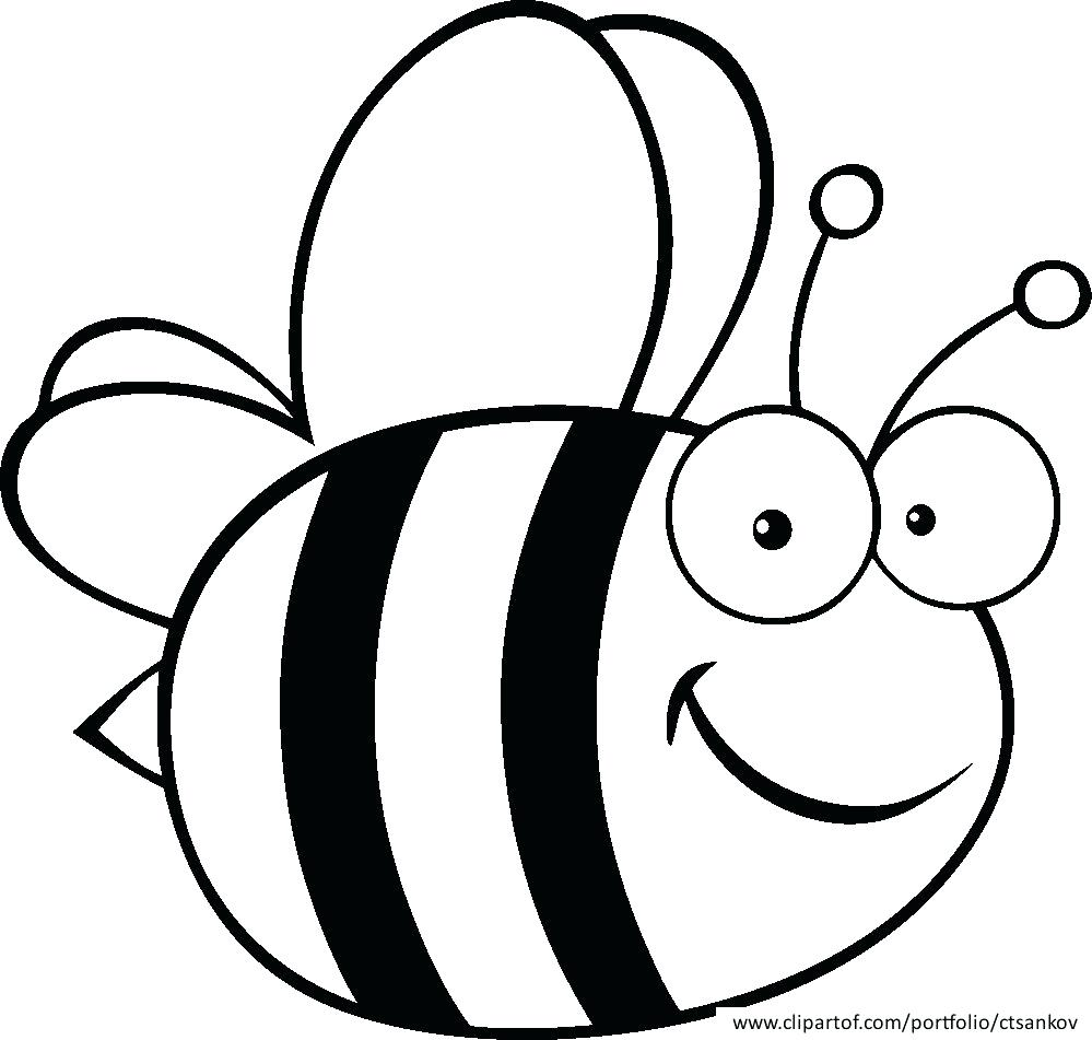 999x951 Coloring Page ~ Bumble Bee Coloring Pages Related Item