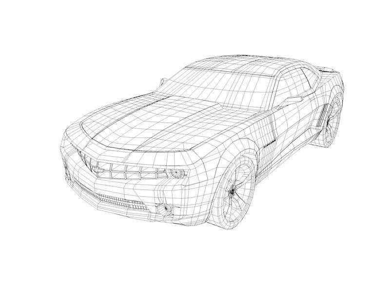800x600 3d Asset Camaro Ss Low Poly Cgtrader