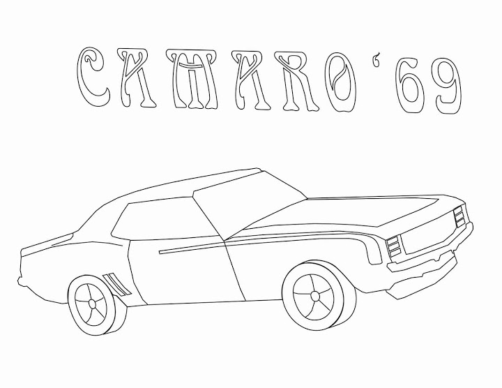 720x556 67 Chevy Camaro Coloring Pages 67 Camaro Girls