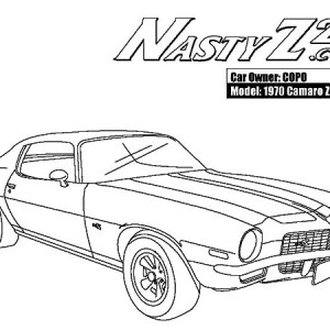 300x300 Chevrolet Camaro Cars Evolutions Coloring Pages Best Place To Color