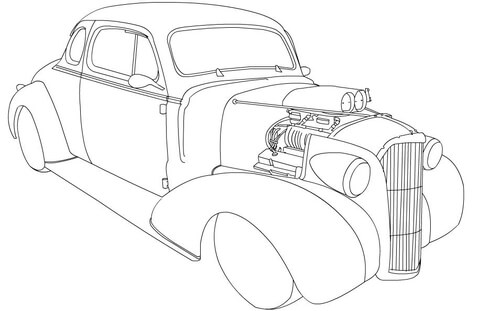 480x311 Chevy Coupe Hot Rod Coloring Page Free Printable Coloring Pages