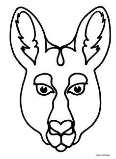 236x324 Kangaroo Face Clipart
