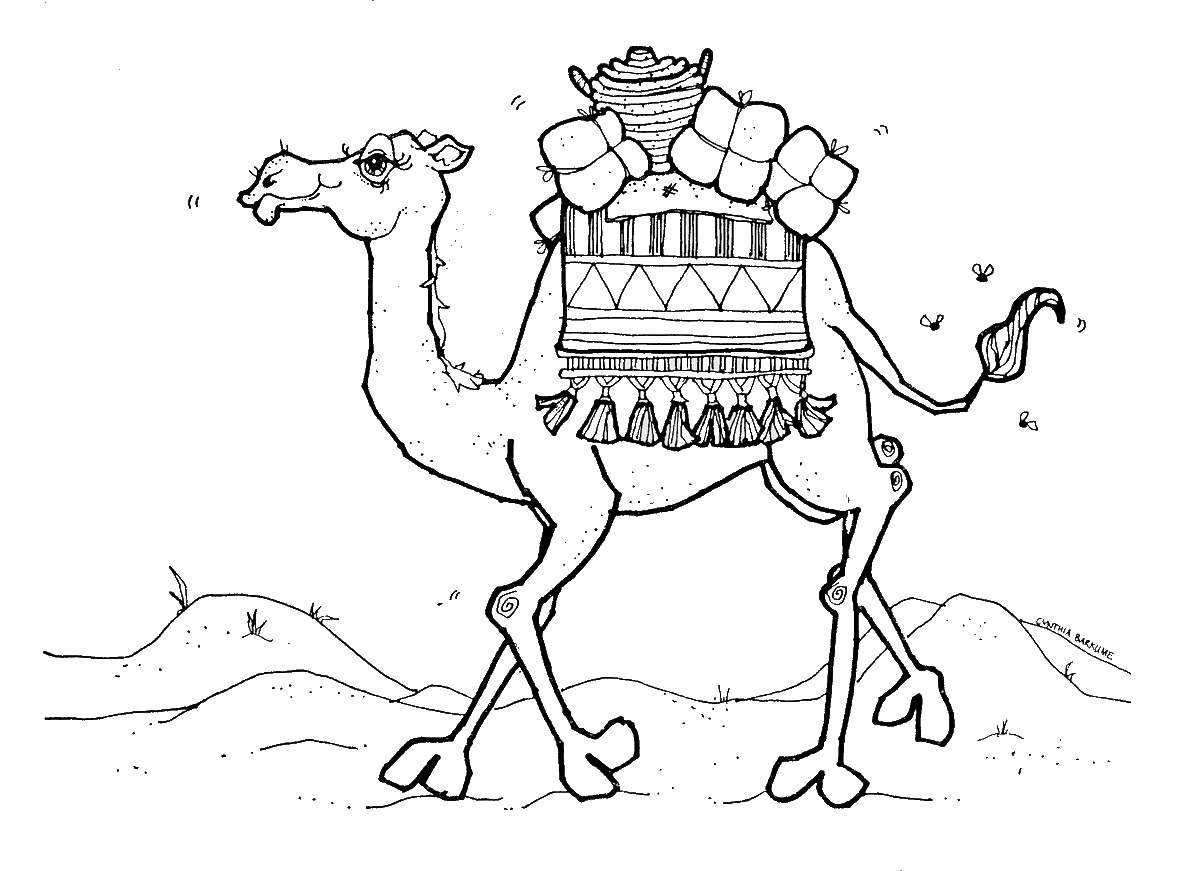 Camel In Desert Drawing at GetDrawings.com | Free for personal use ...