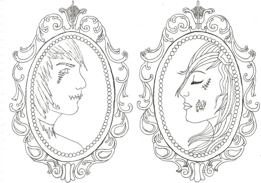 900x632 Matching Zombie Cameo Tattoos By Paigemon