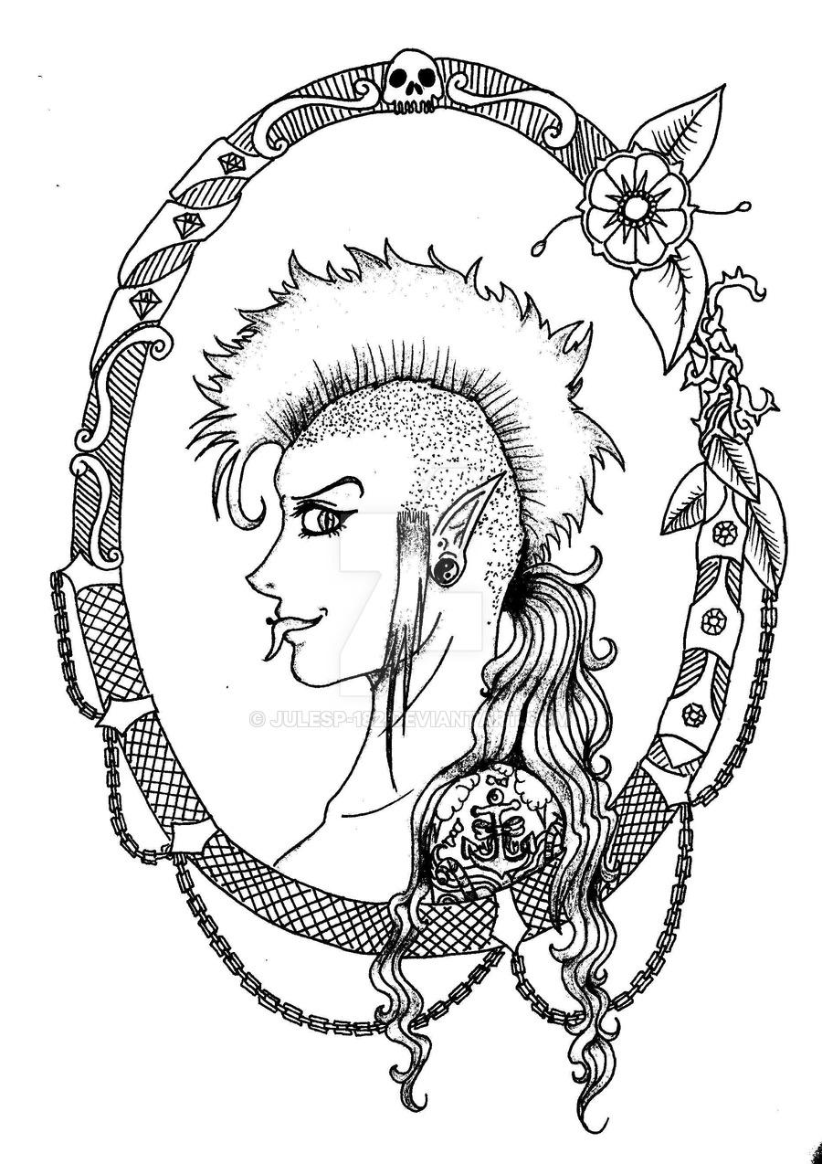 900x1274 Punk Cameo Sketch 3 By Julesp 182