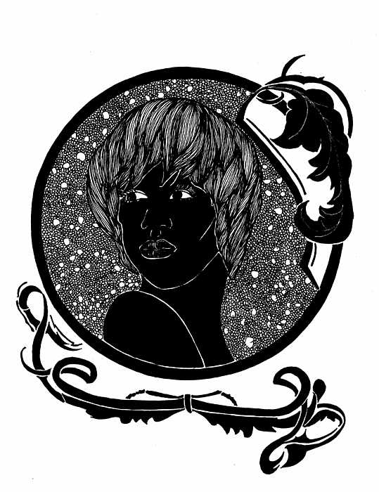 539x700 Cameo Art Nouveau Drawing By Lenora Brown