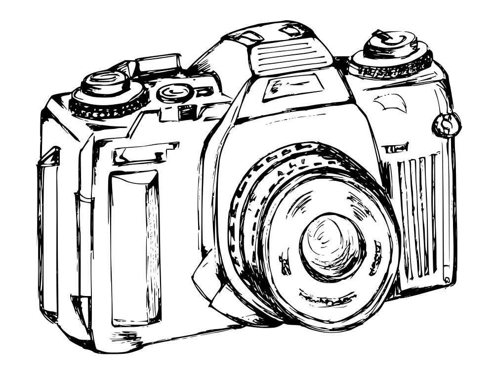 1000x773 Hand Drawn Photo Camera Vector (Svg, Png)