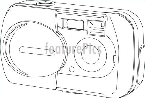 499x338 Camera Line Drawing Illustration