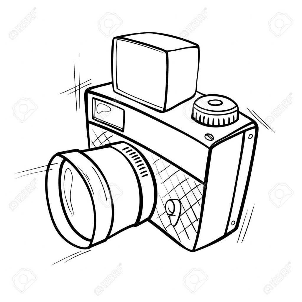1024x1024 Cartoon Camera Drawing