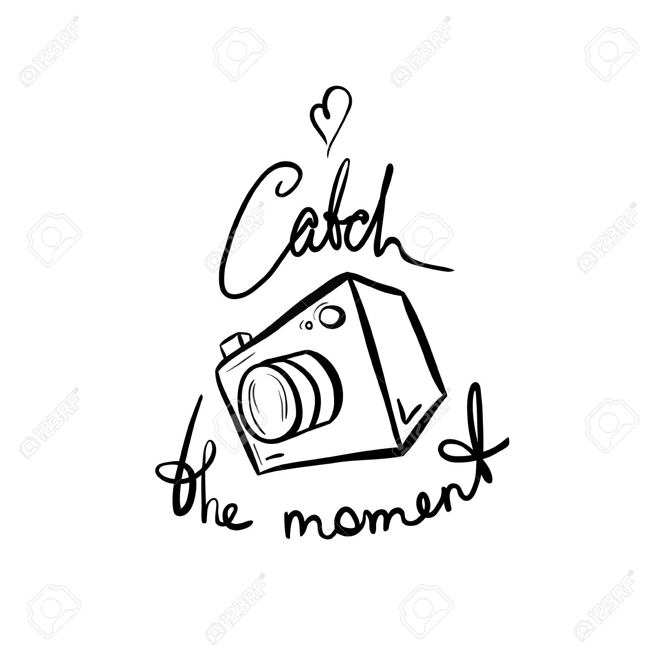 1300x1300 Illustration Of A Camera. Catch The Moment. Take A Photo, Take