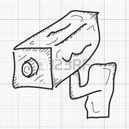 450x450 Simple Hand Drawn Doodle Of A Security Camera Royalty Free