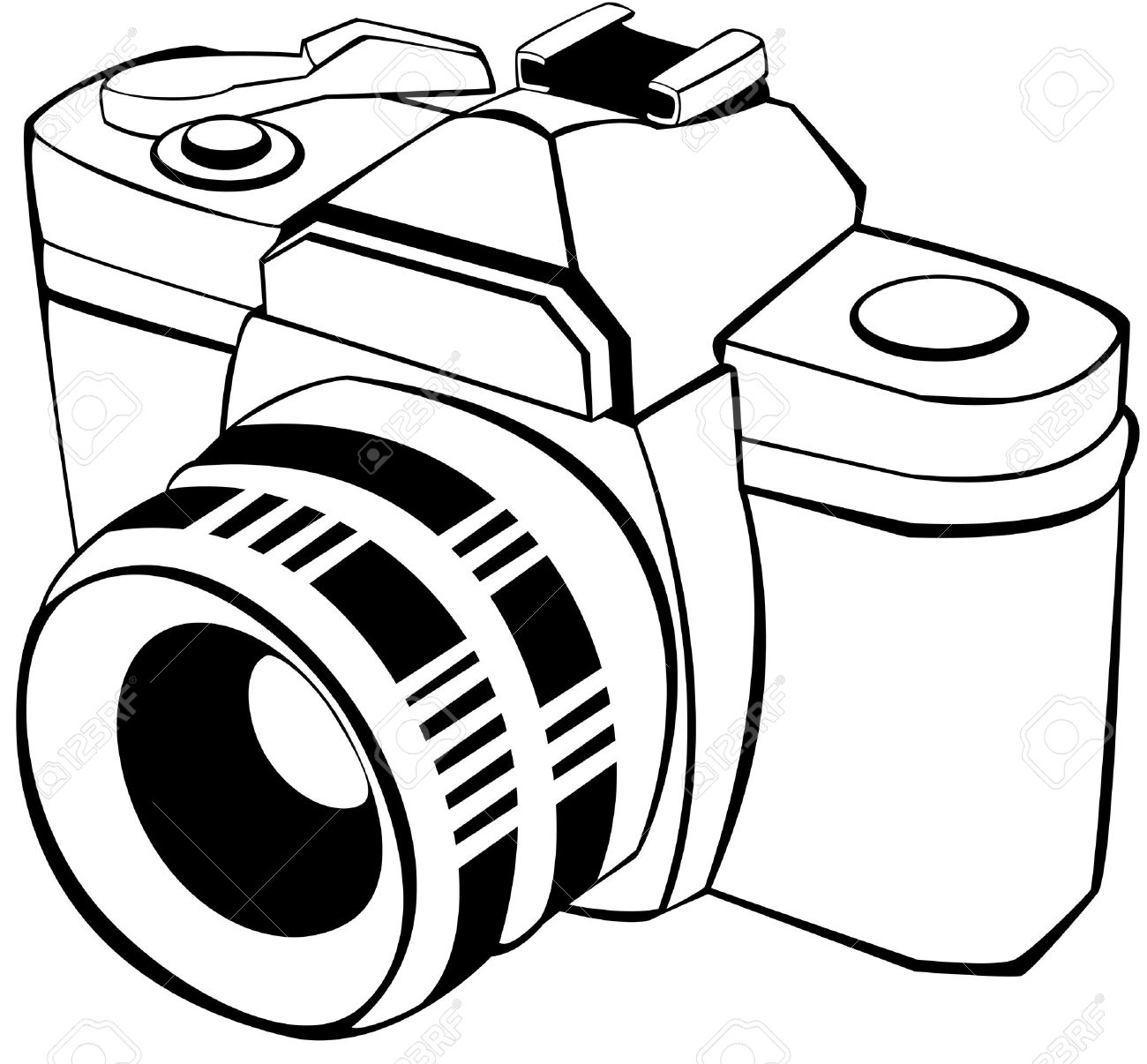 1300x1206 Vector Draw Of An Analogic Reflex Royalty Free Cliparts, Vectors
