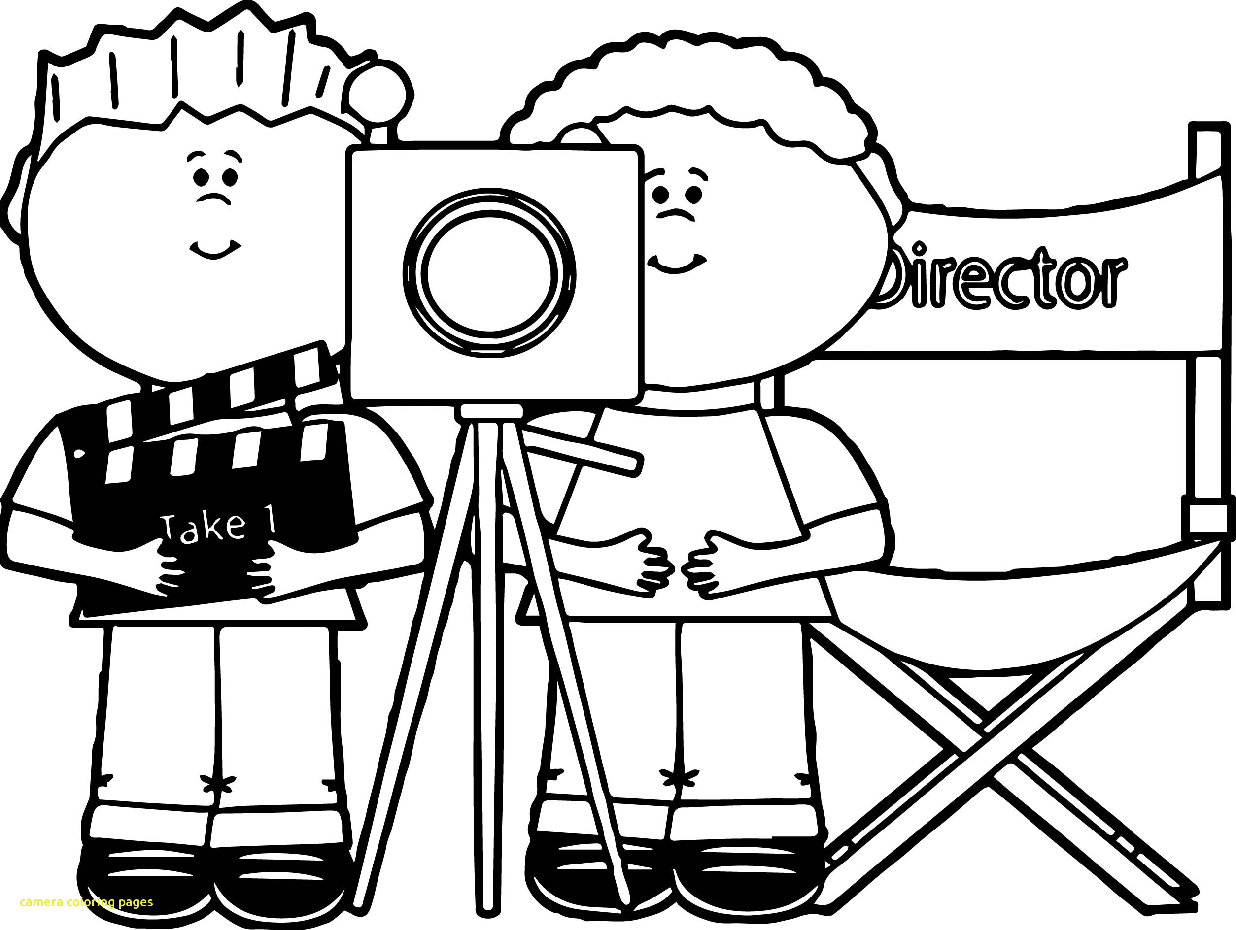 2508x1888 Camera Coloring Pages With Simple Camera Coloring Page