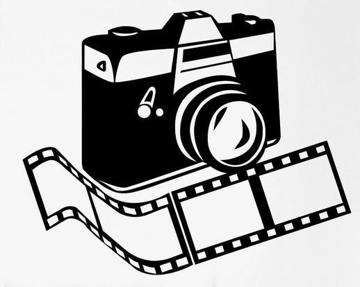 518x414 New Studio Film Vinyl Wall Decal Photo Camera Photographer Room