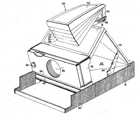 490x408 Polaroid Sx 70 Patent Drawing Sketch Journal Polaroid