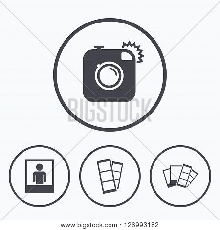 450x470 Hipster Photo Camera Icon. Flash Vector Amp Photo Bigstock