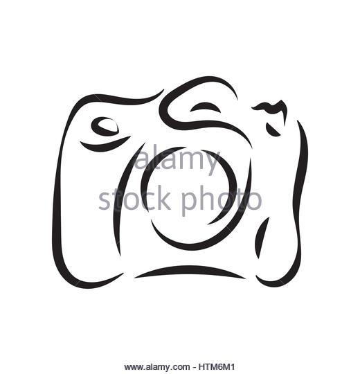 520x540 Photo Camera Flash Outline Icons Stock Photos Amp Photo Camera Flash