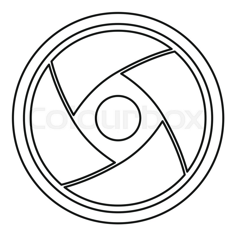 800x800 Camera Lens Icon. Outline Illustration Of Camera Lens Vector Icon