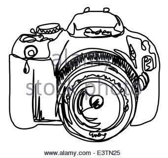 341x320 Camera Line Drawing Stock Vector Art Amp Illustration, Vector Image