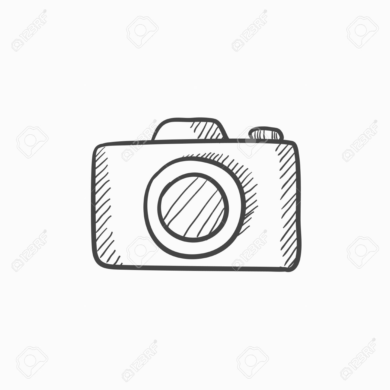1300x1300 Camera Vector Sketch Icon Isolated On Background. Hand Drawn