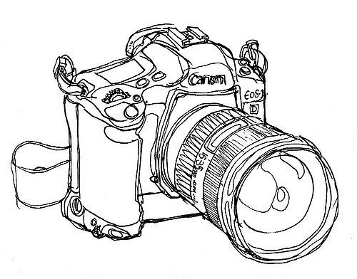 500x392 Eos 1d Mkii Line Drawing Of My Camera Joe 13