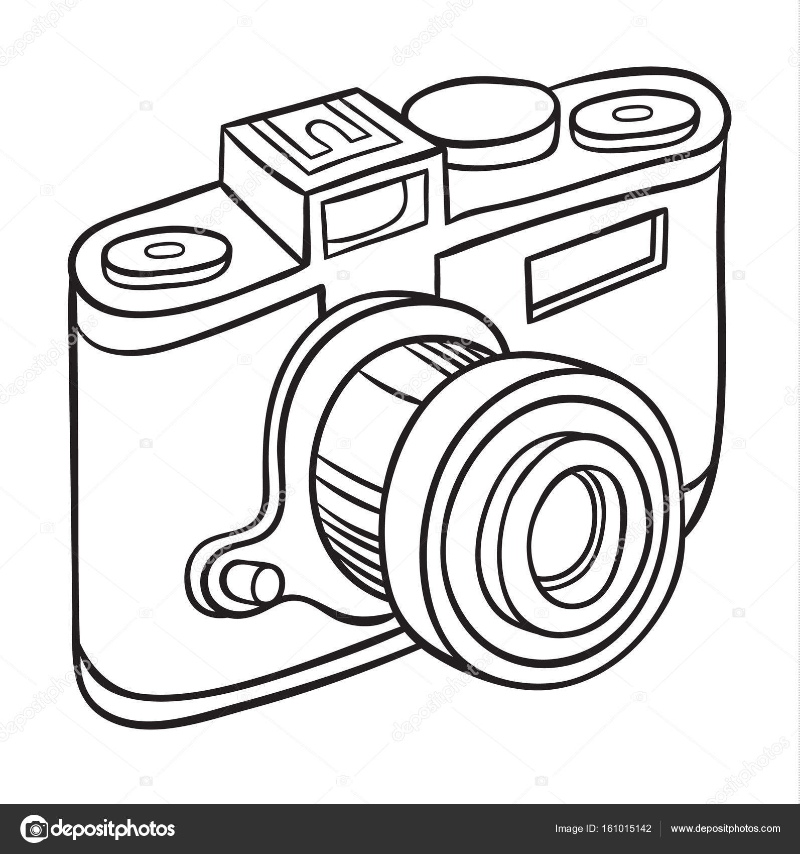 1594x1700 Hand Drawn Camera Stock Vector Annasuchkova