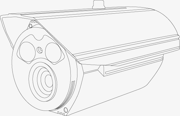 593x382 Line Sketch Monitoring Camera, Line, Hand, Monitor Png Image