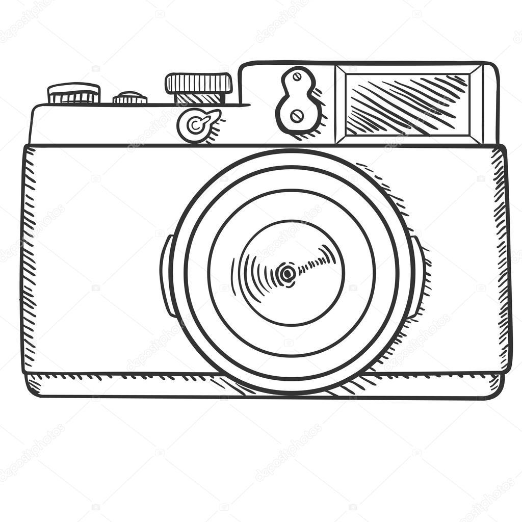 1024x1024 Photo Camera Sketch Stock Vector Nikiteev