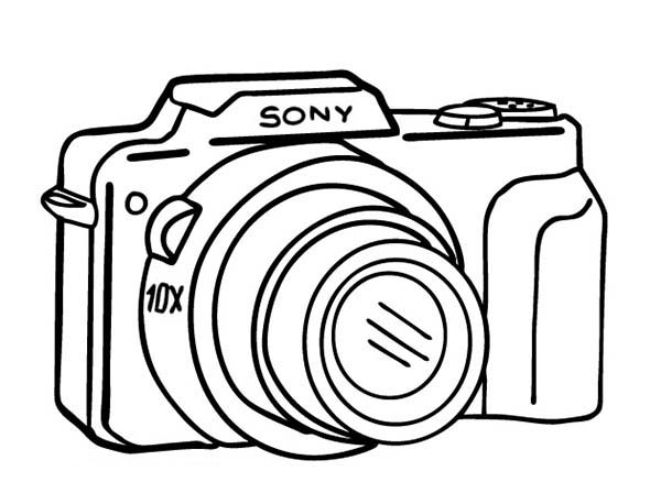 600x448 Camera Coloring Pages Colouring In Fancy Draw Print Printable