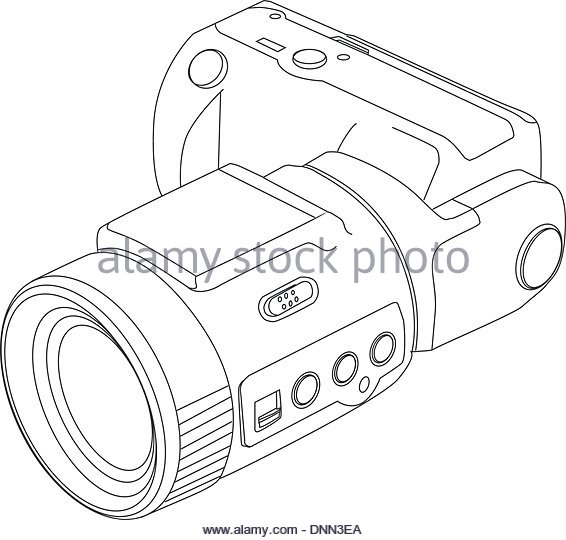 566x540 Camera Line Drawing Black And White Stock Photos Amp Images