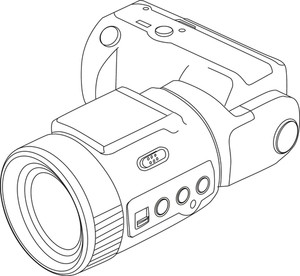 300x276 Camera Line Drawing Royalty Free Stock Image
