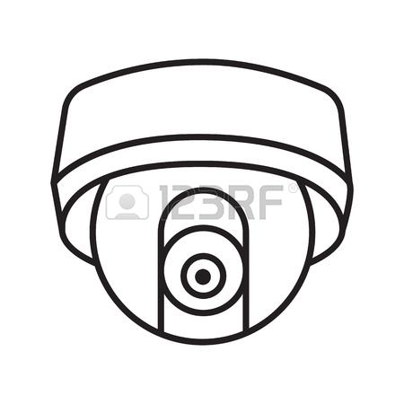 450x450 Cctv Hidden Camera Linear Icon. Thin Line Illustration. Contour