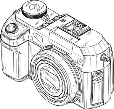 385x368 Digital Camera Draw Free Vector Download (92,387 Free Vector)