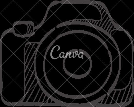 550x441 Camera Doodle Outline