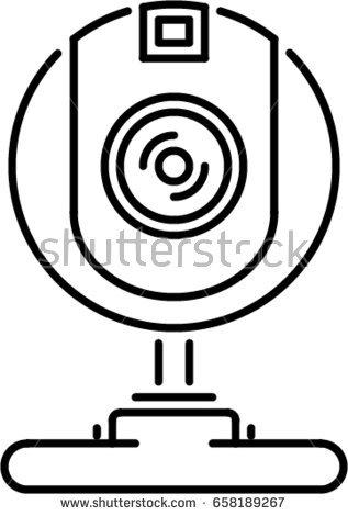 317x470 Web Camera Clipart Black And White