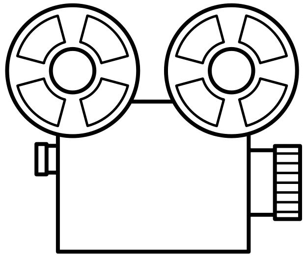 625x526 Camera Clipart Black And White
