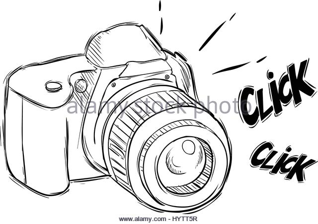 640x452 Vintage Old Photo Camera Draw Stock Photos Amp Vintage Old Photo