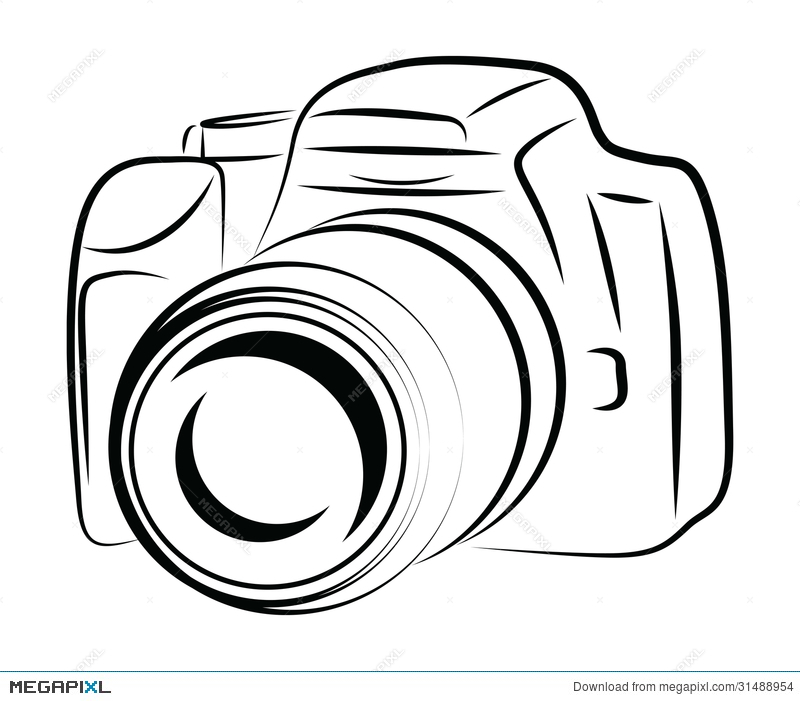 Camera Simple Drawing At Getdrawings Com