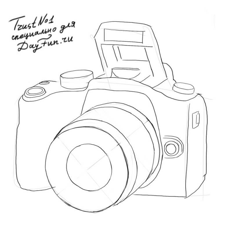 800x800 How To Draw A Camera Step By Step