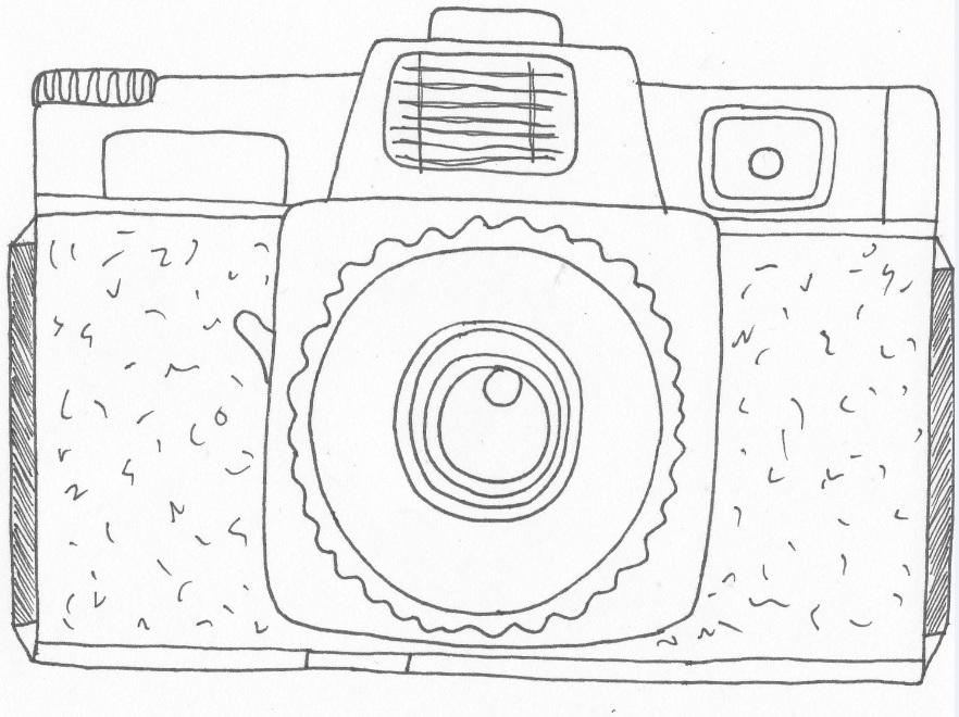 882x660 Kerrie's Illustrations Camera Drawings