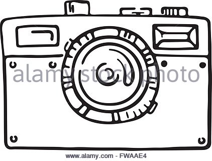 422x320 Hand Draw Photographic Camera Digital Stock Vector Art